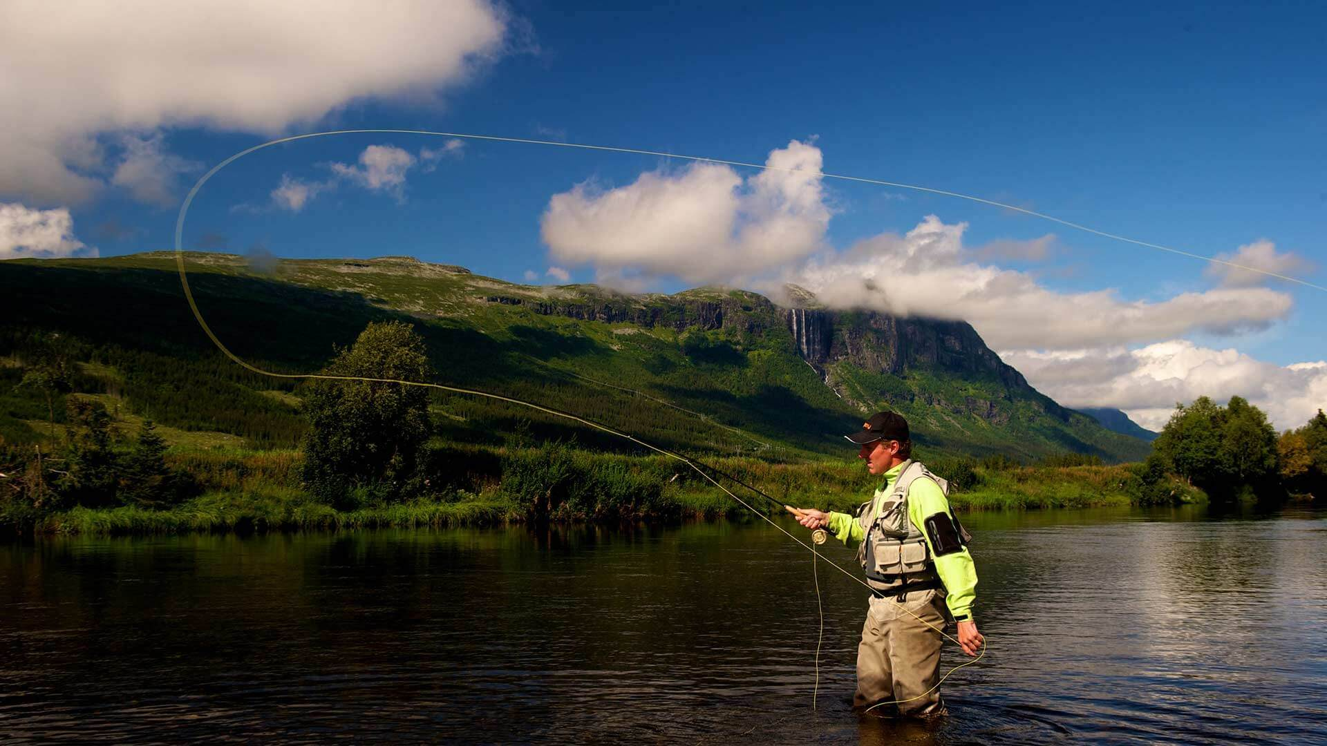 Fly fishing in norway possible near herangtunet for Rent fishing gear near me