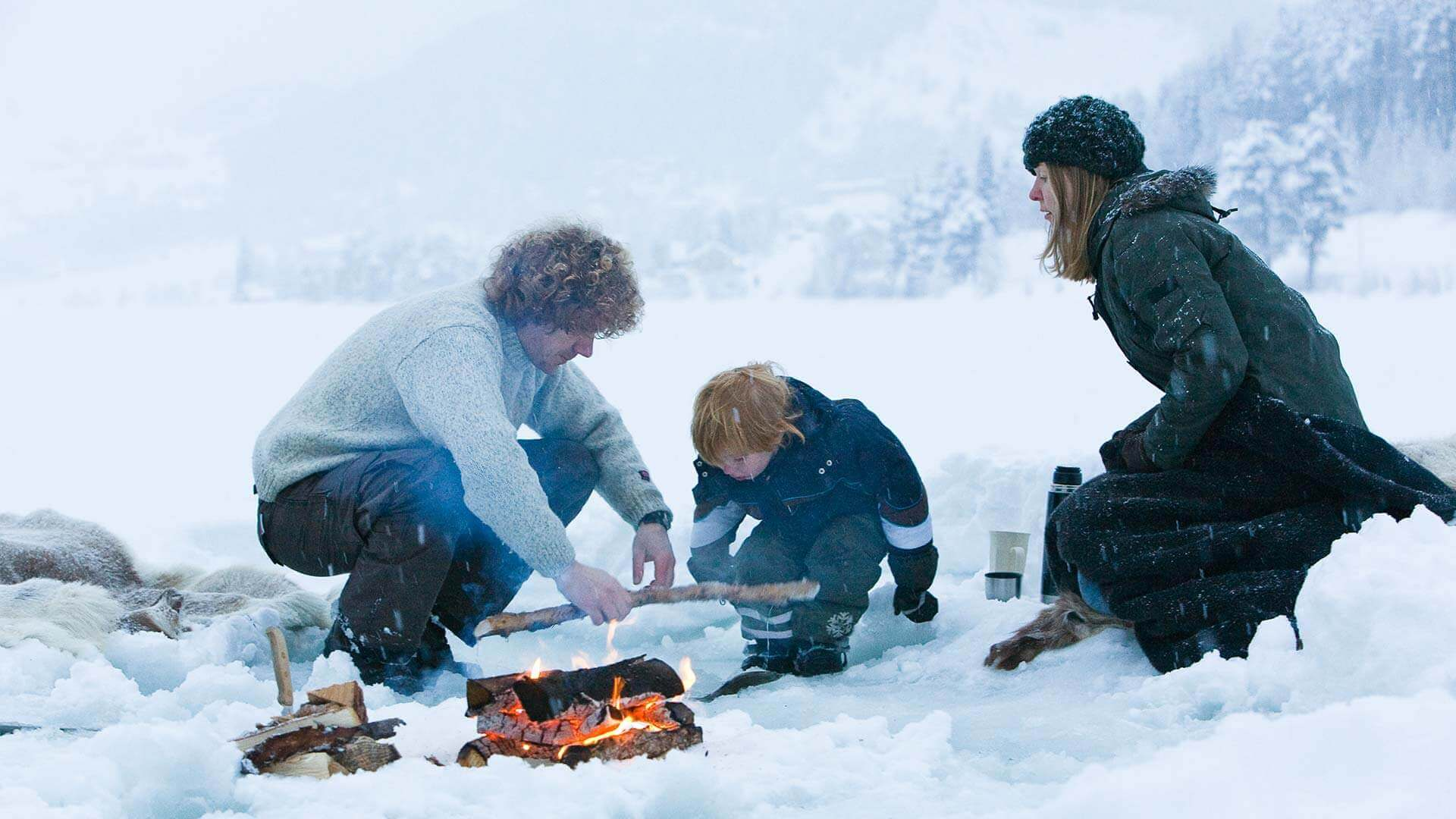 Ice fishing trip with Herangtunet in Norway
