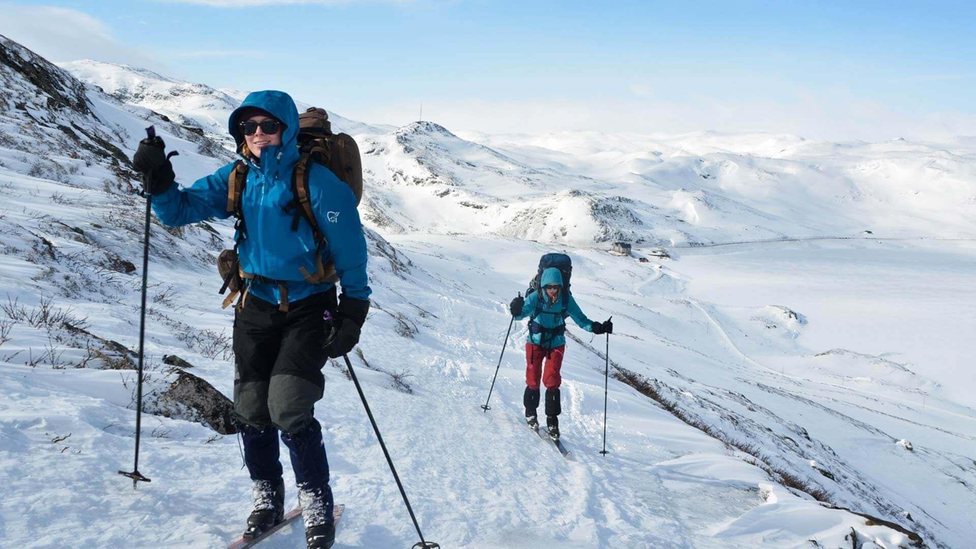 Skiing jotunheimen norway beitostølen from herangtunet
